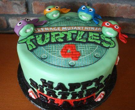 Teenage Mutant Ninja Turtles Cake And Cookies Ninja Turtle Birthday Cake Turtle Birthday Cake Turtle Cake