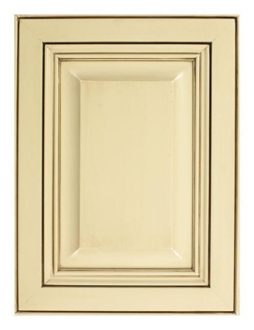 Ivory Cabinet With Chocolate Glaze House Ideas