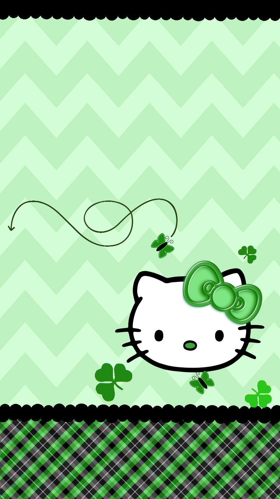iPhone Wall St. Patrick's Day tjn Hello kitty