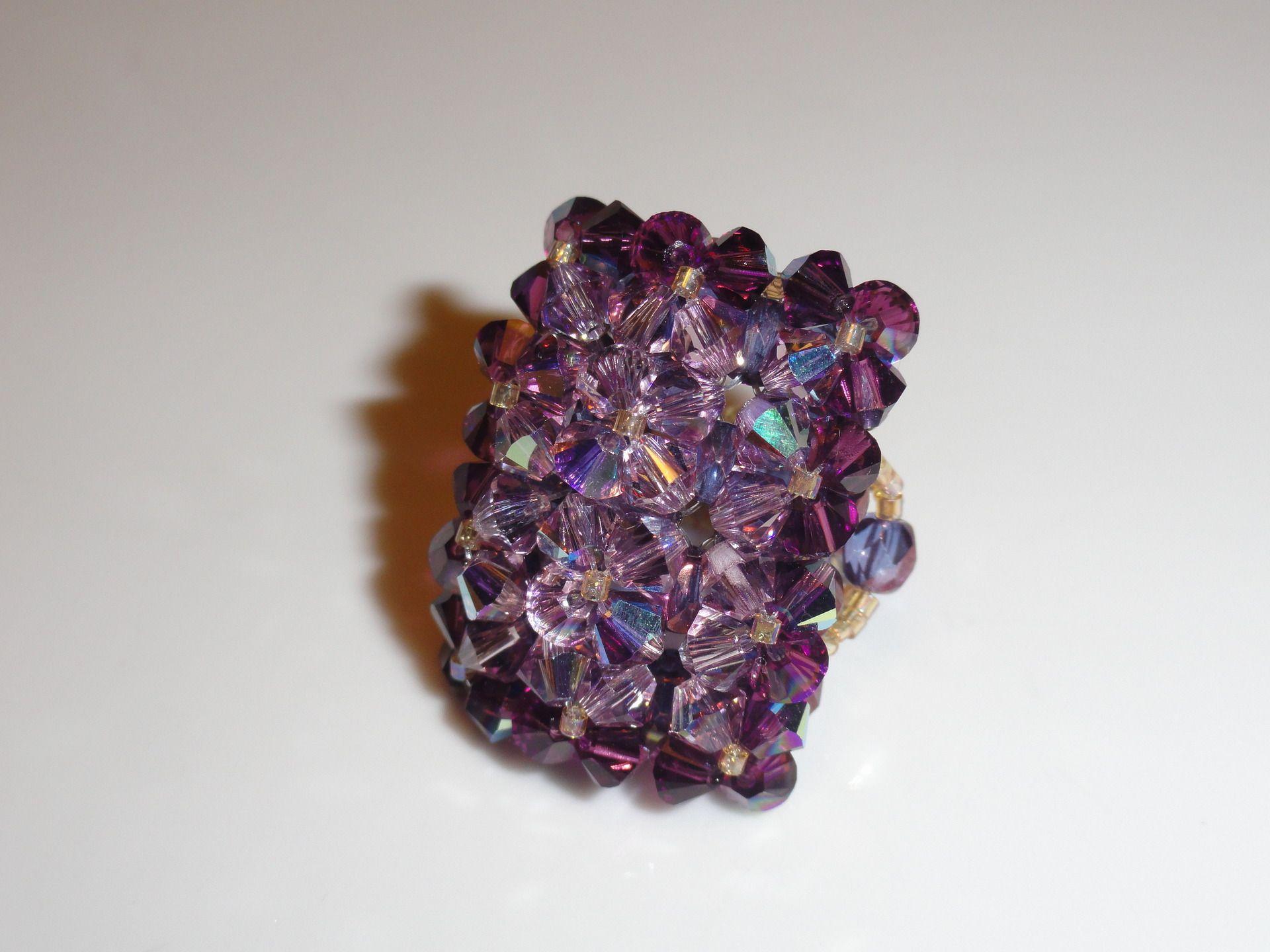 bague swarovski violette