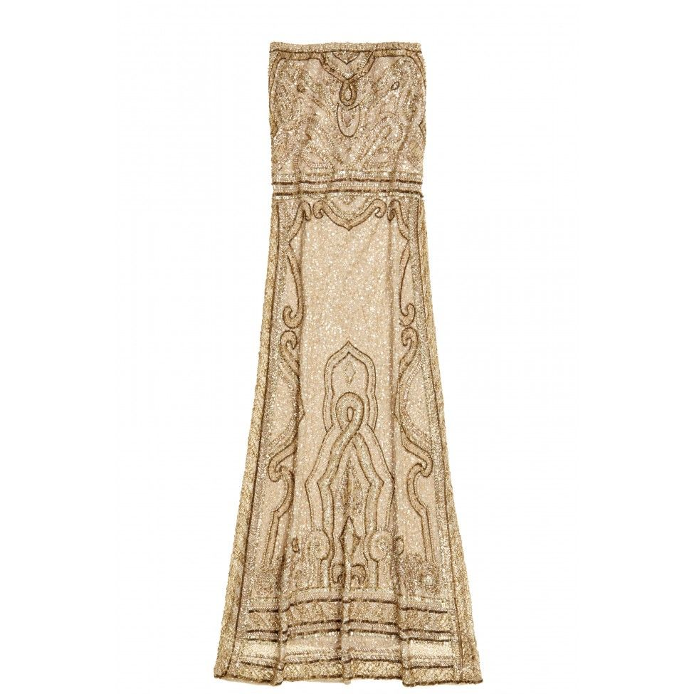 Enjoy an additional 50% off sale prices. Hand embellished gold gown ...