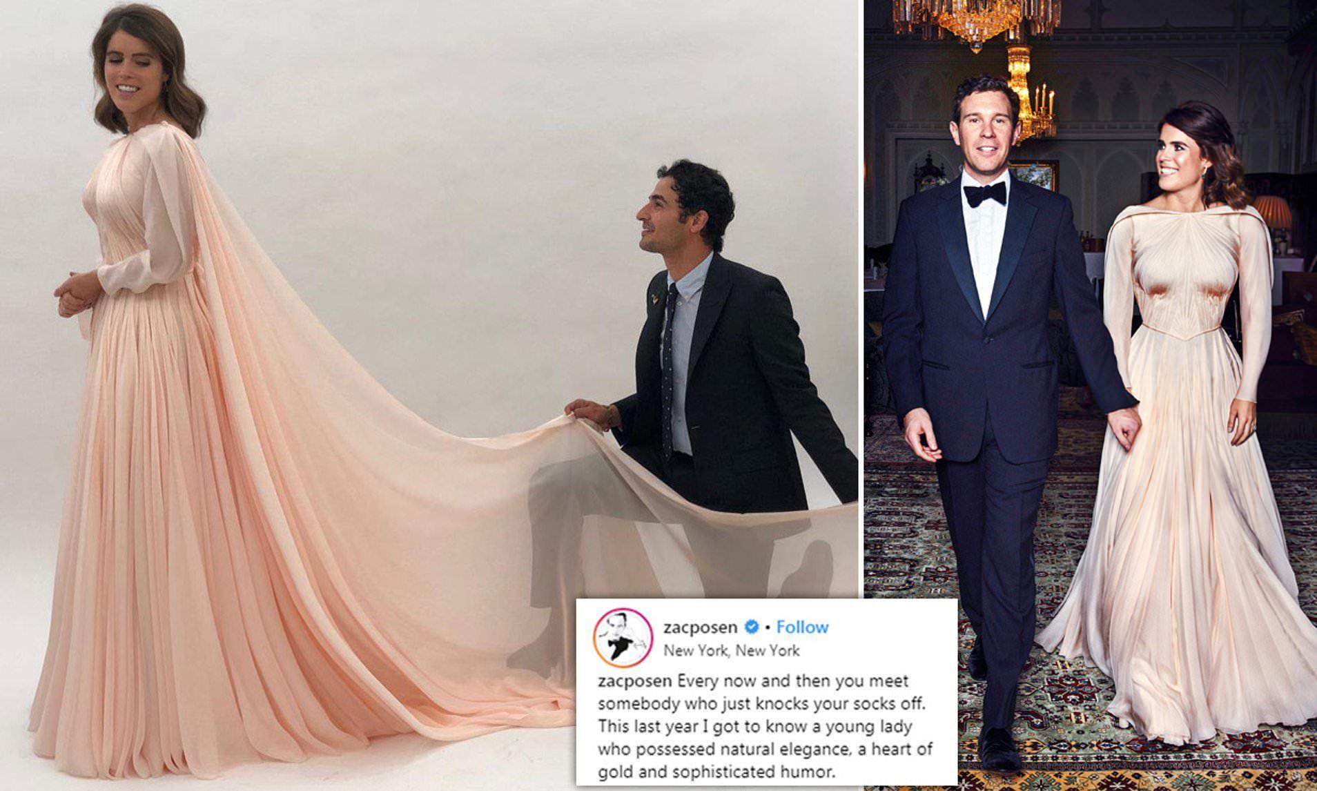 Zac Posen Shares Unseen Photo Of Princess Eugenie S Wedding Dress