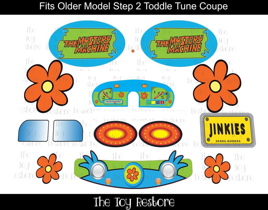 Scooby doo mysterymachine new replacement decals - Scooby doo voiture ...