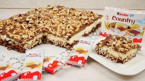 Rezept: Kinder Country Kuchen ohne Backen | Kinder Country Schnitten Zutaten: Bo ...  - Backen und Desserts für Kinder -
