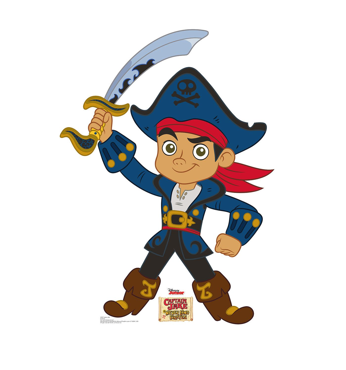 Captain Jake - Jake and The Neverland Pirates - Cardboard Cutout ...