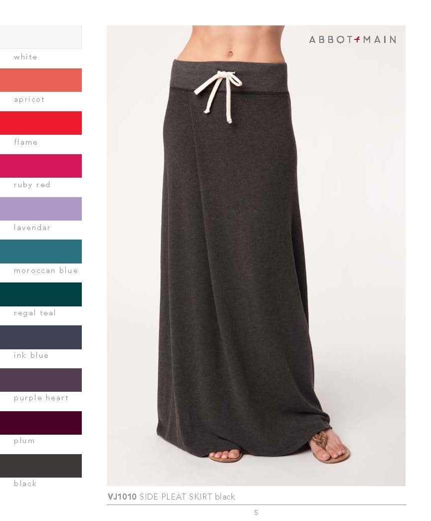 Vintage Jersey Long Skirt w/ side pleate