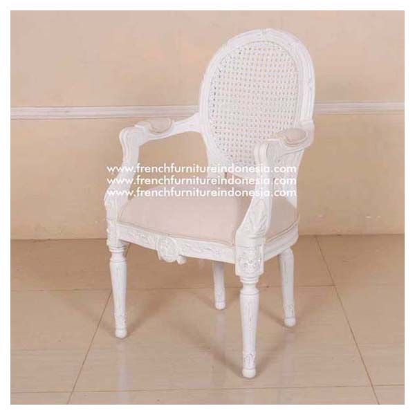 Buy This Mini Arm Chair Issa Rattan Back From Antique Reproduction Furniture.  We Are Reproduction Furniture 100% Export Furniture Manufacturer.