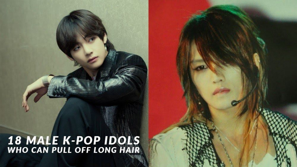 18 Male K Pop Idols Who Can Pull Off Long Hair Allkpop Latest Trendy Asian And Korean Hairstyles For Men 2019 Kpop Hair Long Hair Styles Kpop Hairstyle Male
