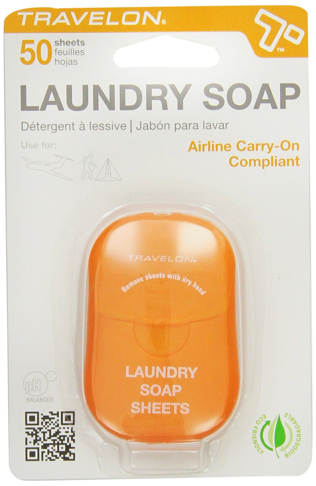 Travelon Laundry Soap Sheets 50 Count Just Add Water They Also