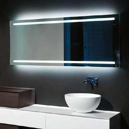 antoniolupi SPIO175W rechteckiger Spiegel mit LED-Beleuchtung - led beleuchtung badezimmer