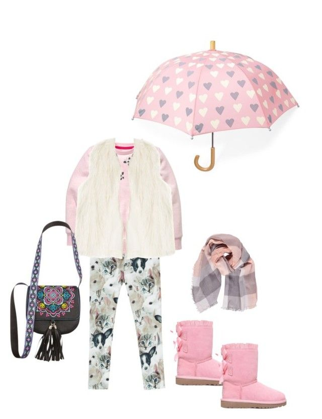 """Shopping"" by modestmademoiselle ❤ liked on Polyvore featuring Hatley, H&M, DKNY, UGG and Boohoo"