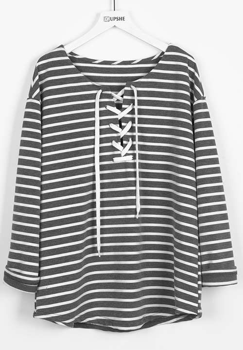 Only $23.99 for free shipping! Go wherever the wind takes you in this stripe casual top. So gentle it feels that you can't wait to touch it. Hit more heated pieces at Cupshe.com !