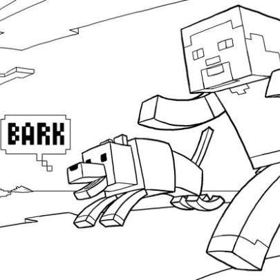 Minecraft Steve And His Dog Coloring Page Wallpaper Imagenes De Minecraft Minecraft Dibujos Dibujos Para Colorear Adultos