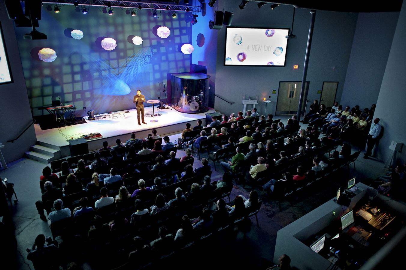 Worship center at mosaic church charlotte nc designed - Interior design firms charlotte nc ...
