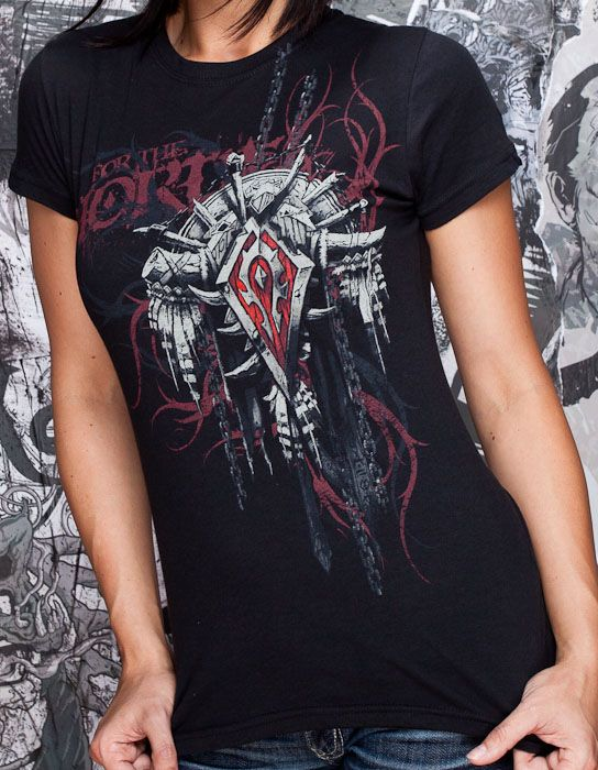 b6afc5b95 J!NX : World of Warcraft Horde Crest Version 2 Women's Tee - Clothing  Inspired by Video Games & Geek Culture