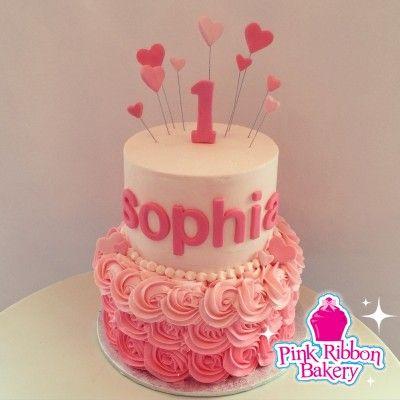 Pink First Birthday Cake Jpg 400 400