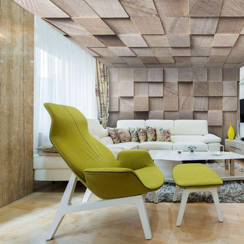 Acoustic Stretch Ceiling Water Repellent Decorative Wood Effet Bois Barrisol Plafond Bois Plafond Tendu Plafond