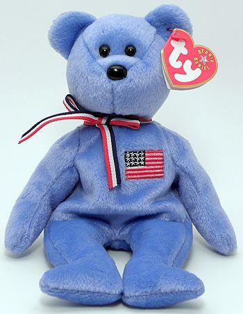 9c648cc71e3 America (blue) - Bear - Ty Beanie Babies