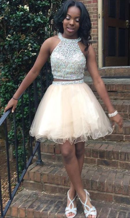 d3ecd0c6eed58 Homecoming Dresses Short Prom Dresses,2 pieces Homecoming Dresses,Sparkly