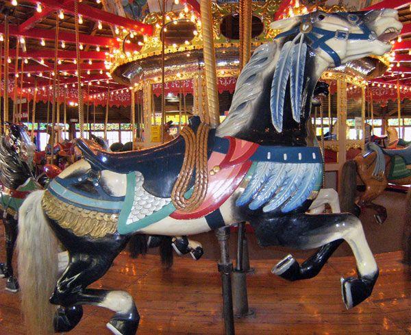 Beautiful carousel horse