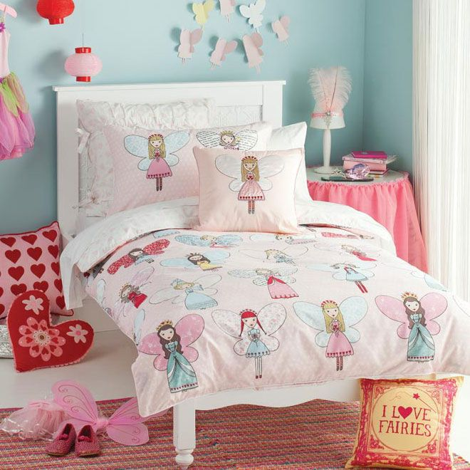 Fairy Dress Up Pink Quilt Cover | Doonas | Pinterest | Quilt cover ... : fairy quilt cover - Adamdwight.com