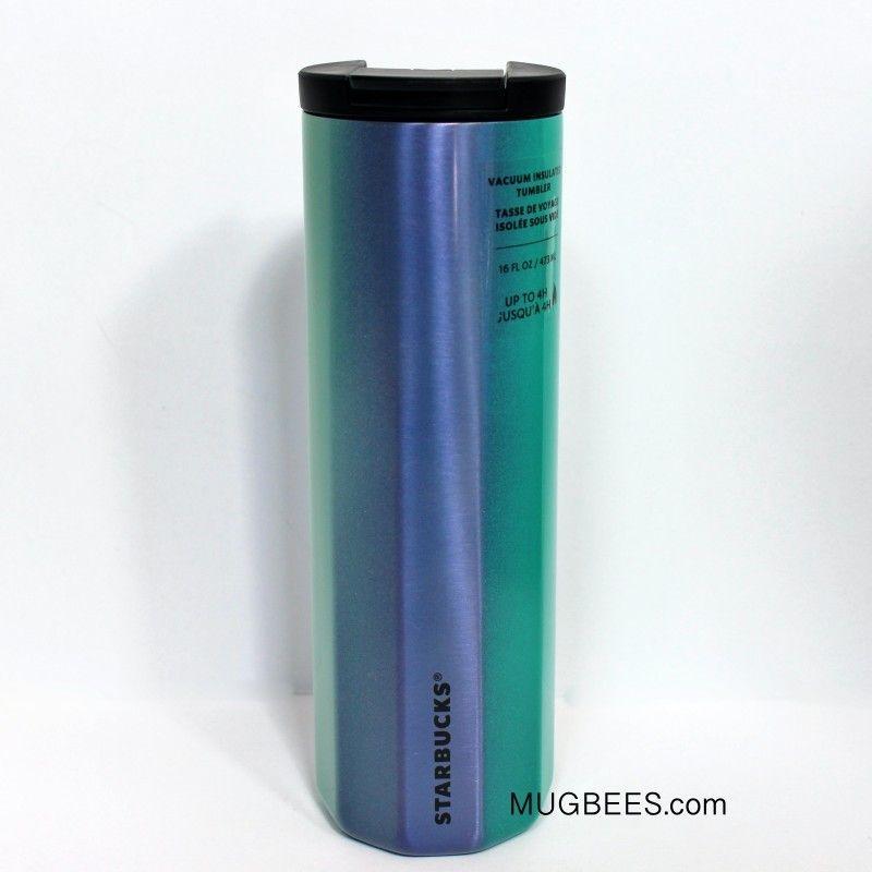 Starbucks Summer 2020 Vacuum Insulated Tumbler Ombre Blue Orange Green 16 oz NEW