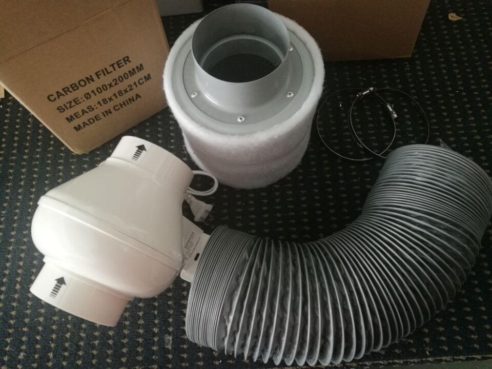 Universe Of Goods Buy 4 Inch Inline Duct Fan Ducted Ventilator Carbon Air Filter Ducting For Complete Carbon Air Filter Grow Tent House Ventilation System