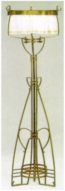 Gustave Serrurier Bovy 1858 1910 Floor Lamp Brass