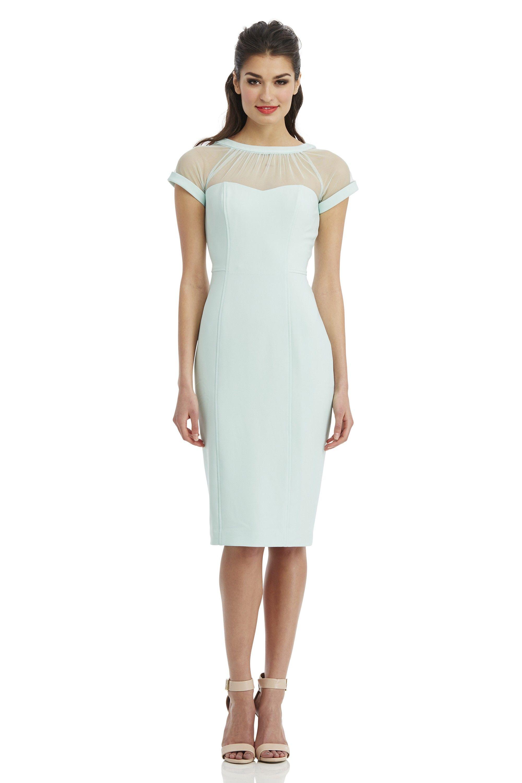 Maggy London Illusion Dress in #Mint | Work. | Pinterest | Illusion ...