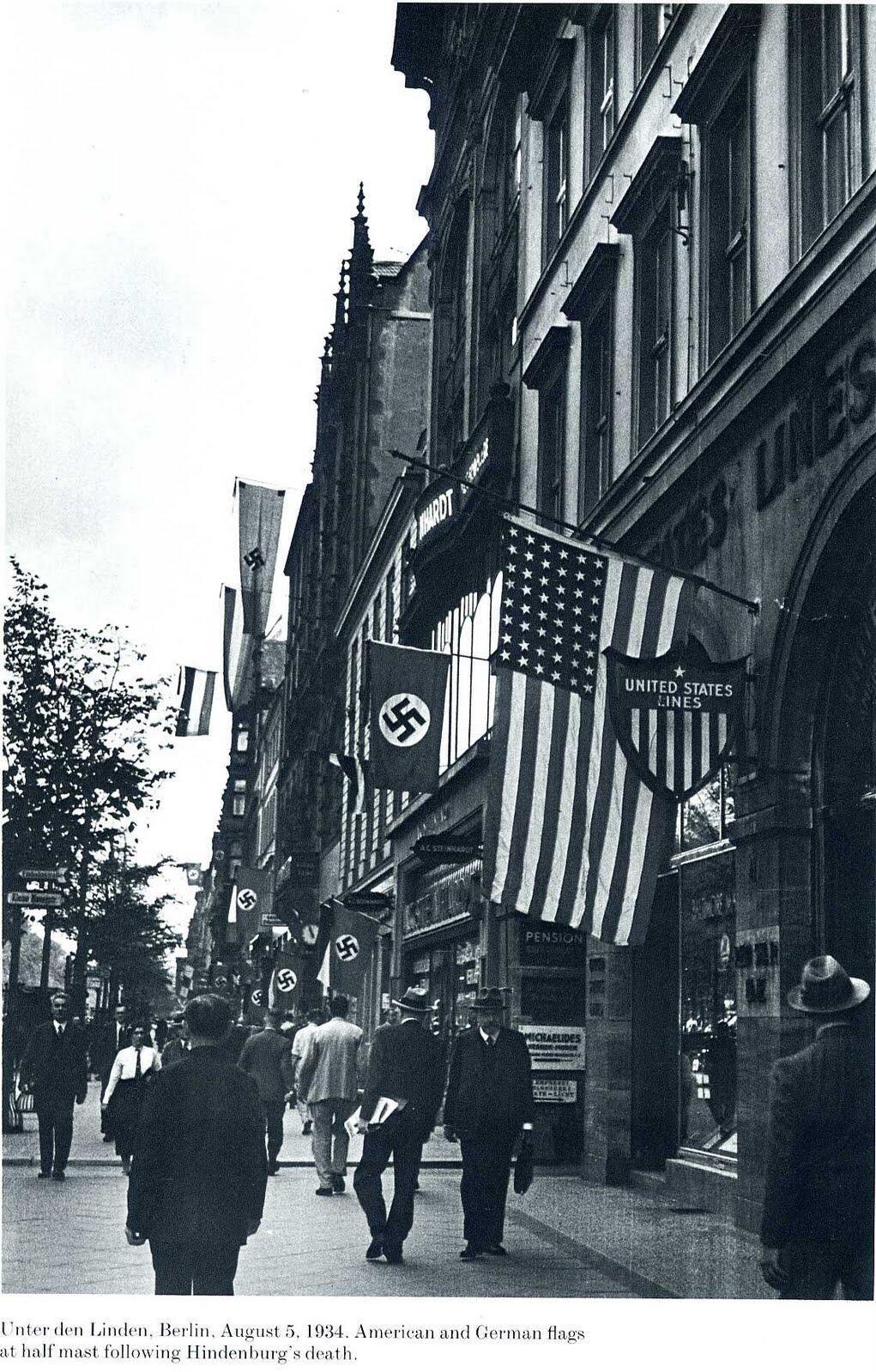Am 5.August 1934 Der Reichspraesident v.Hindenburg ist gestorben.