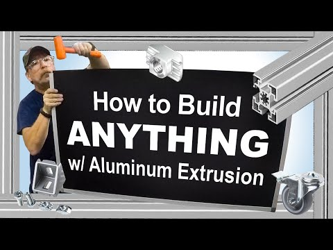 How To Build Anything With Aluminum Extrusion By Bosch Rexroth Youtube Aluminum Extrusion Extrusion Bosch