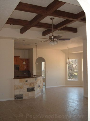 How To Make A Coffered Ceiling With Wood Beam Ceiling
