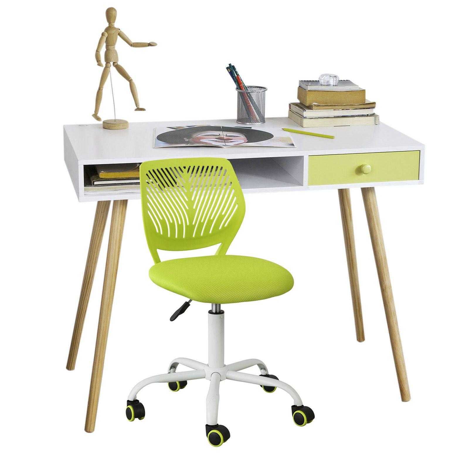 Sedia girevoli per scrivania Sedia cameretta Verde Altezza ...