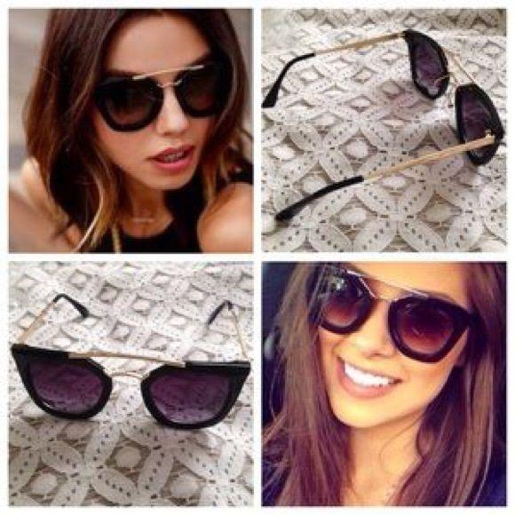 New Prada cinema sunglasses Prada cinema sunglasses ins-pi-red! High  quality. No logo. Dark and gold frame Prada Accessories Sunglasses eba21c9db4