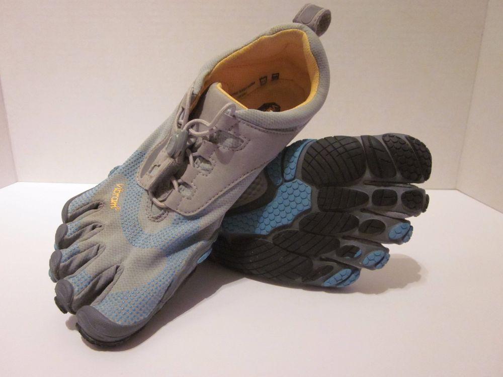 huge discount 0ead6 c97cf Vibram FiveFingers Bikila W356 Barefoot Running Shoes Womens Sz 38 Gray Blue   Vibram  RunningCrossTraining