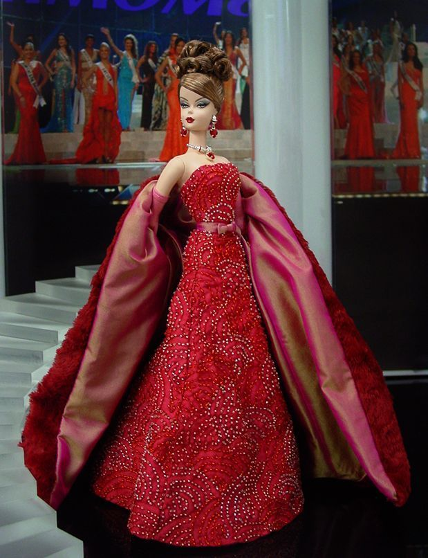 barbie red gowns pics | Barbie in red gown | Firing Red | Pinterest ...