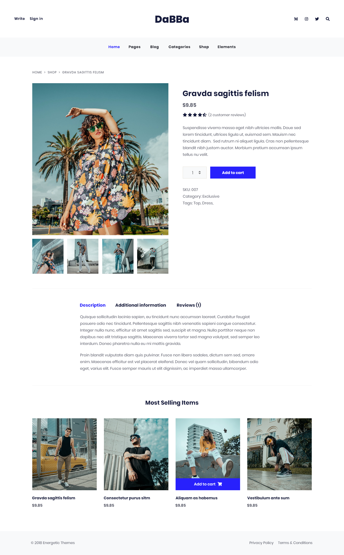 Dabba A HTML Template For Blog & Shop Template, HTML