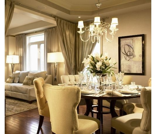 Dining Room In Living Room: Luxurious Dining Room
