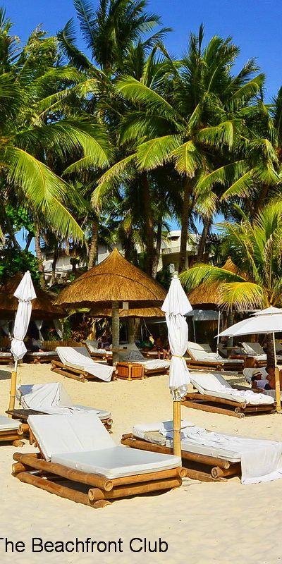 White Beach Umbrellas Boracay Island Philippines Boracay Beaches