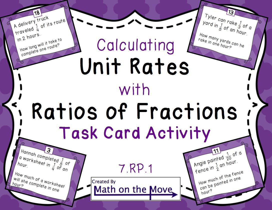 Unit Rates With Complex Fractions