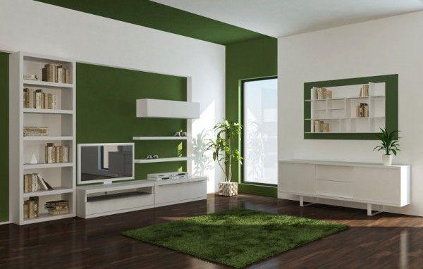 Tonos verdes para pintar las paredes ideas para el hogar - Casas color verde ...