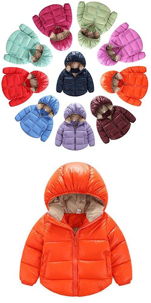 b78a53fb4 Toddler Baby Boys Girls Outerwear Hooded coats Winter Jacket Kids ...