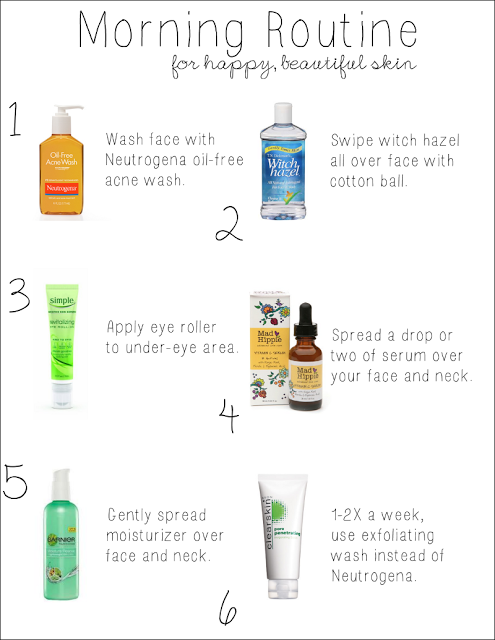 Morning Skincare Routine For Happy Beautiful Acne Free Skin Skin Care Wrinkles Morning Skin Care Routine Anti Wrinkle Skin Care
