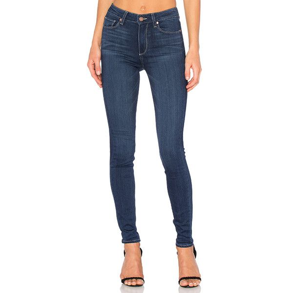 Paige Denim Hoxton Ultra Skinny (13,000 INR) ❤ liked on Polyvore featuring jeans, frayed jeans, skinny jeans, skinny leg jeans, skinny fit jeans and super skinny jeans