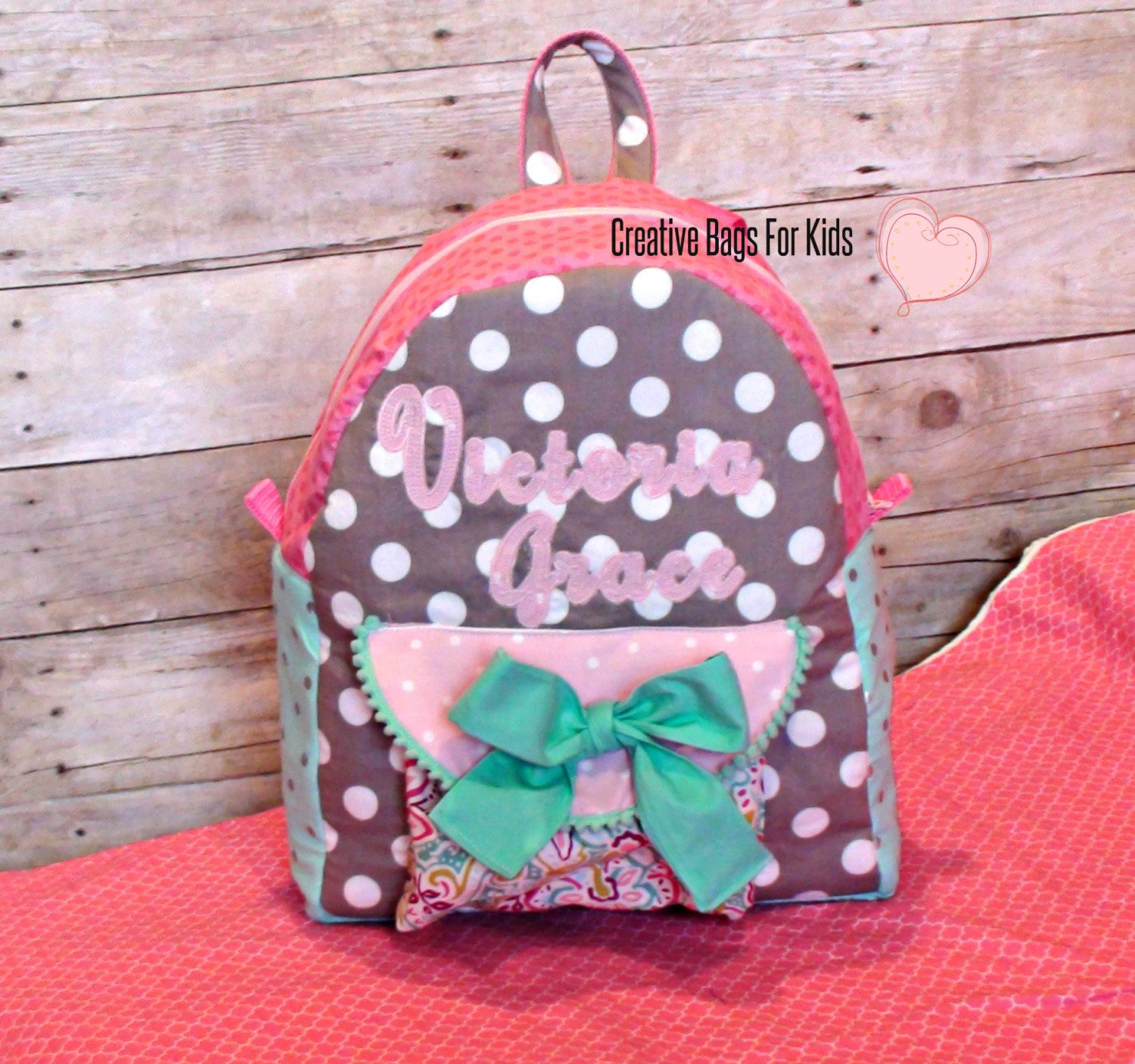Kids Backpack Childrens Toddler Personalized Monogrammed Diaper Bag S