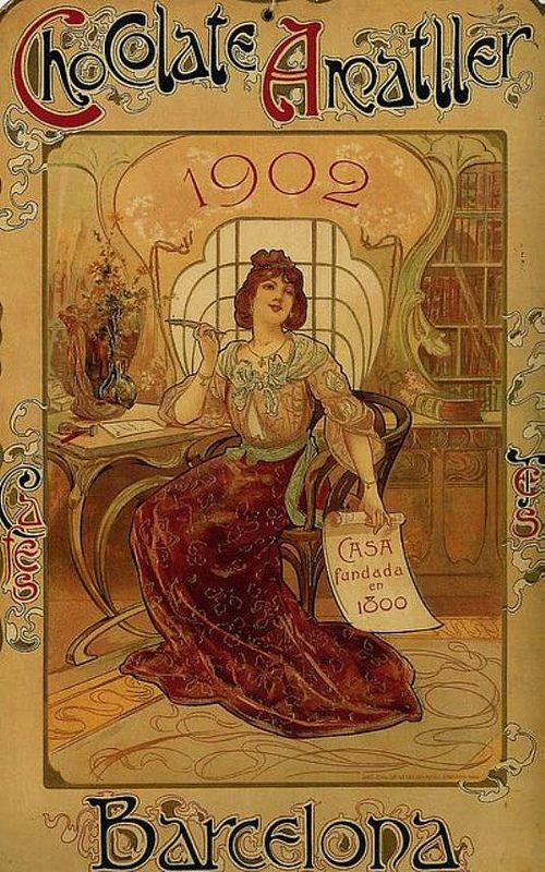 Poster Advertising Chocolate 1902 Illustrated By Alfons Mucha