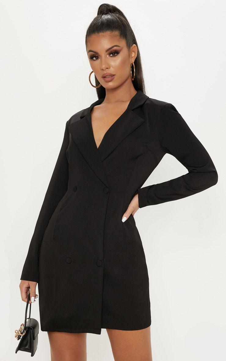 17++ Black blazer dress info
