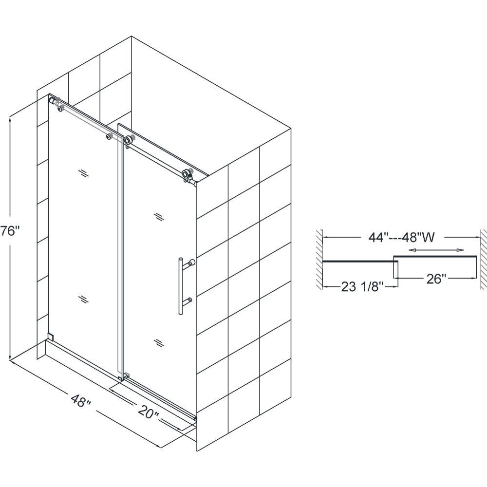Standard Sliding Shower Door Sizes Httpsourceabl
