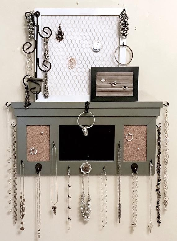 Photo of Deluxe Wall Hanging Jewelry Organizer // Jewelry Display // Jewelry Holder // Jewelry Hanger // Ring