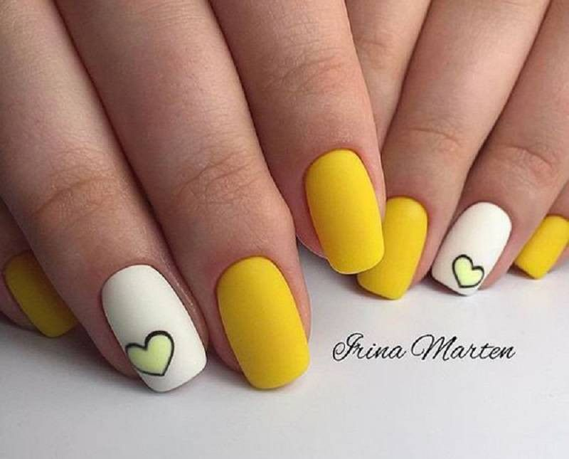 Nail Designs 2018 Amazing Nail Design Ideas 2018 Evesteps Yellow Nails Design Yellow Nail Art Yellow Nails